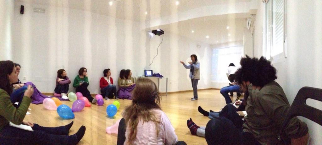Un momento del taller de liberación creativa.