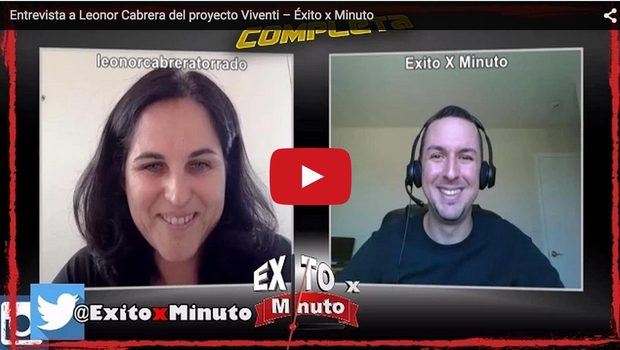 Entrevista a Leonor Cabrera hecha por Éxitoxminuto